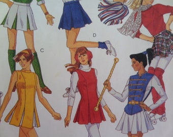 b61cca4da161 CHEER OUTFIT Pattern • McCalls 6072 • Miss 14 • Cheerleader Skirt • Majorette  Dress • Sewing Patterns • Costume Patterns • WhiletheCatNaps
