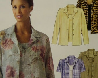 ba7be28b1d8400 BUTTON DOWN SHIRT Pattern • McCalls 5359 • Miss 8-14 • Pullover Tank Top •  Overshirt • Sewing Patterns • Womens Patterns • WhiletheCatNaps