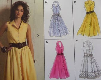 SUNDRESS Pattern • Vogue 8383 • Miss 6-12 • Princess Seam Dress • Shawl  Collar Dress • Sewing Patterns • Womens Patterns • WhiletheCatNaps 6f050f6f4c61