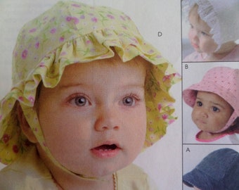 a367d73271 INFANT HAT Pattern • McCalls 4478 • Infant NB-Xl • Baby Bonnet • Infant Ball  Cap • Sewing Patterns • Childrens Patterns • WhiletheCatNaps