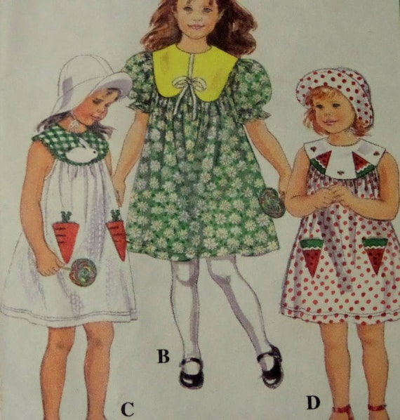 SUNDRESS Pattern Simplicity 40 Girls 4040X Appliqued Etsy New Sundress Patterns Simplicity