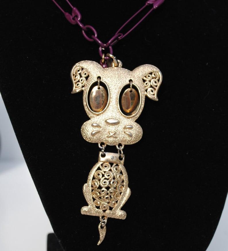 Gold Dog Necklace image 0