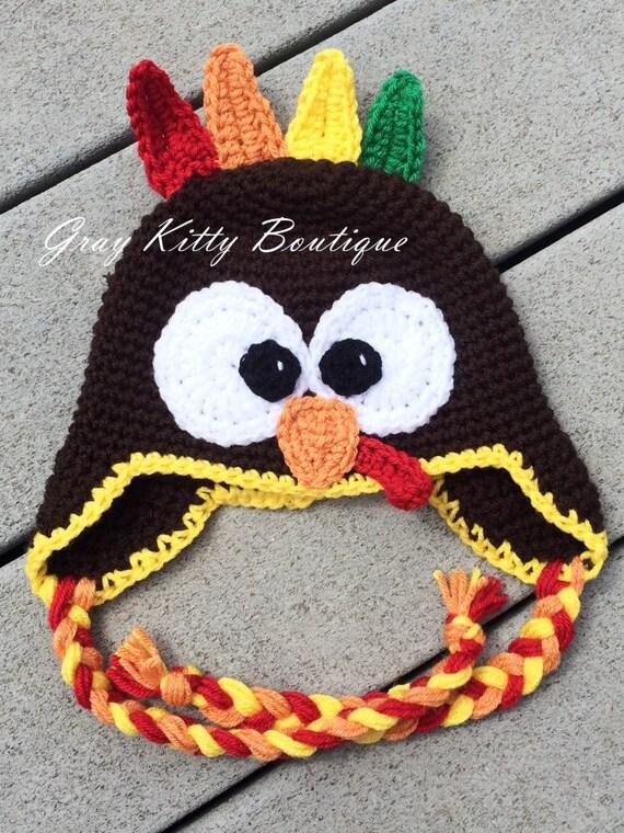 Crochet Turkey Hat Crochet Thanksgiving Hat Crochet Bird | Etsy