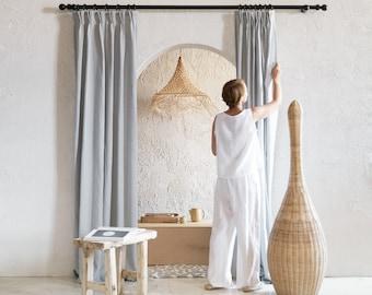 Handmade linen curtains, Pinch pleat curtains, Blackout curtains, Window curtain panels, Linen window treatments