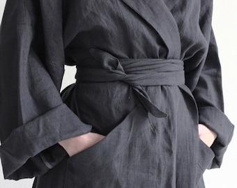 Custom robe for women Linen robe Natural dressing gown  b80b2f525