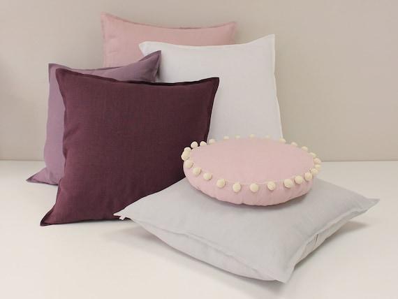 Linen Pillow Cover Eggplant Accent Pillow Linen Pillows Etsy Best Eggplant Decorative Pillows