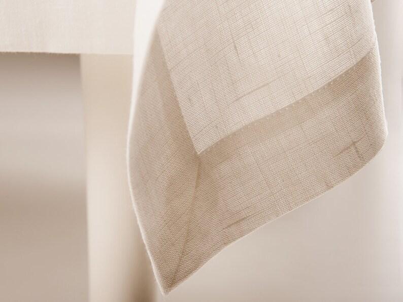 1e78bc8e5032 Natural off white linen tablecloth Beautiful Off white