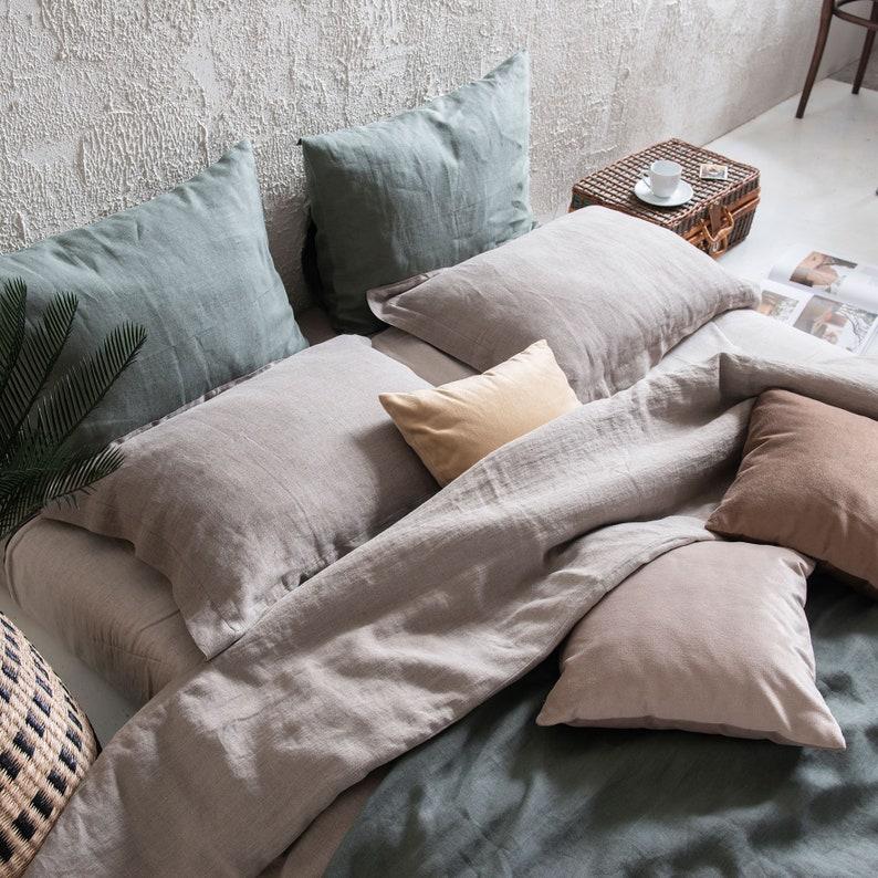 Linen bed sheet set Linen bedding set Natural linen sheets image 0