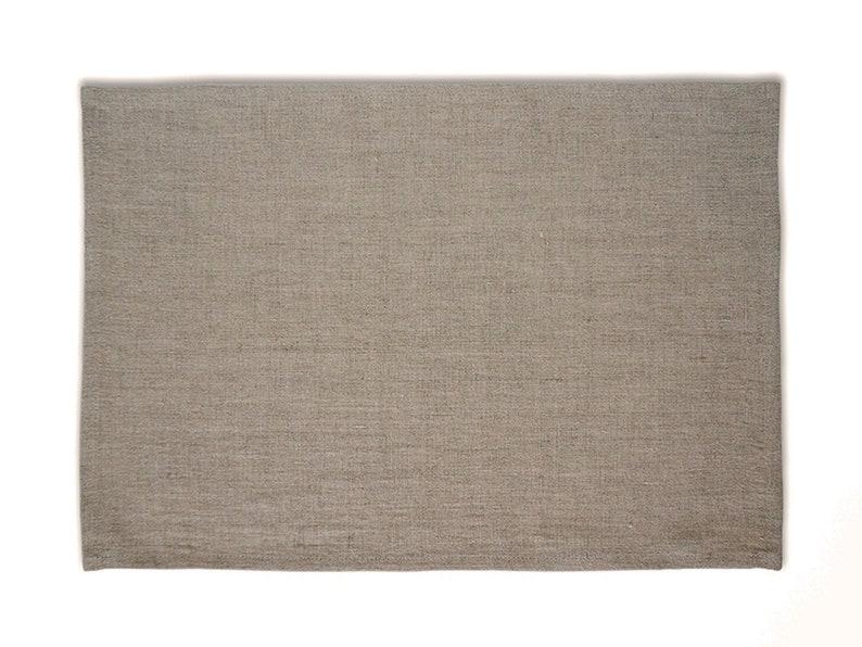 Linen placemat set Rectangle place mats Natural linen placemats Fabric placemats Custom placemats sets 17 colors