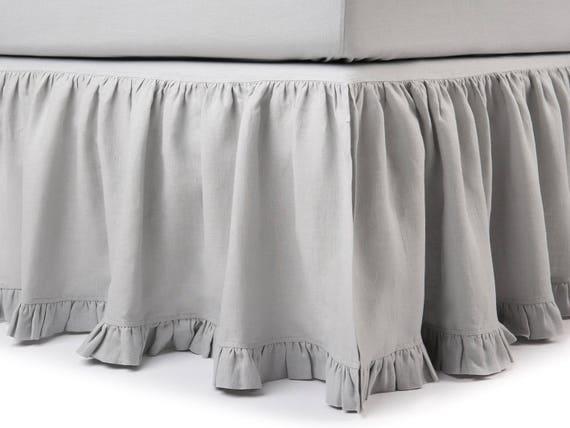 Linen Twin Bed Skirt 16 Colors Linen Bedskirt Twin Linen Etsy