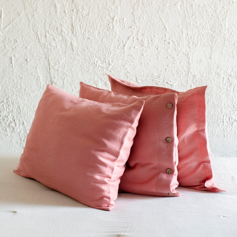 Natural linen pillowcase Linen pillowcases with coconut image 0