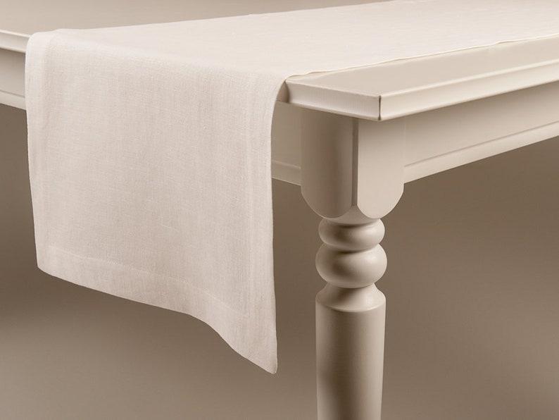 Linen table runner Off white Table runners image 0