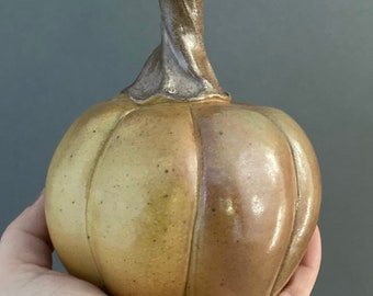 Pumpkin - Ceramic Pumpkin - Orange Pumpkin - Fall Decor - Thanksgiving - Halloween (3)