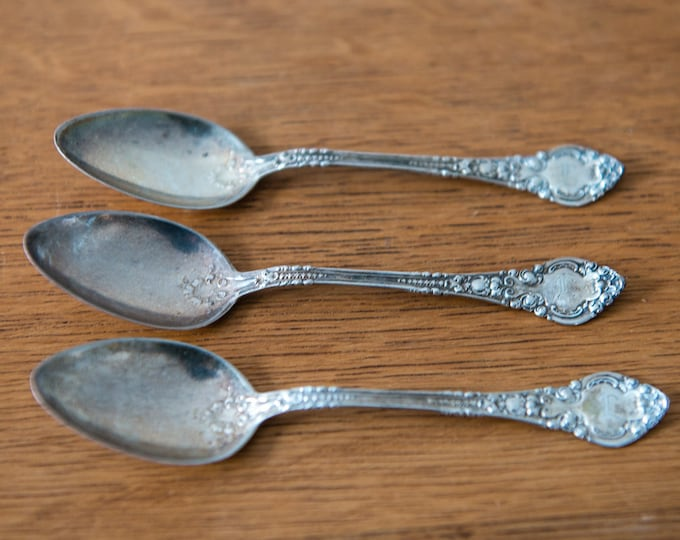 Vintage 3pc set of sterling silver teaspoons with HWH hallmark