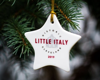 Cleveland Ohio Little Italy commemorative Christmas ornament | Little Italy CLE ornament | Cleveland OH Little Italy ornament