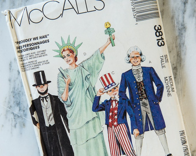 "Vintage 1988 McCall's sewing pattern 3813 ""Proudly We Hail"" USA patriotic costumes 