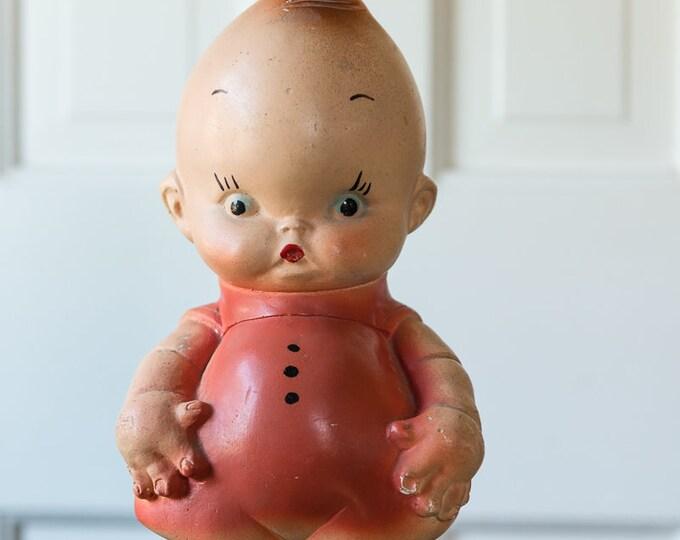 Vintage carnival chalkware angel kewpie doll bank |