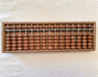 Vintage wooden Japanese abacus, antique abacus