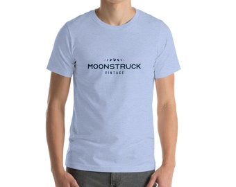 Short-Sleeve Unisex T-Shirt in heather pastel colors, Moonstruck Vintage, Cleveland OH