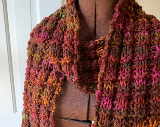 """Hand knit extra long winter scarf 