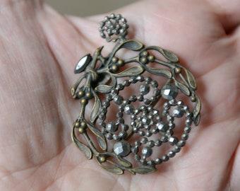 Victorian steel cut faceted buckle. De-stash jewelry piece, destash jewelry, jewelry making