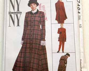 Vintage 1994 McCall's sewing pattern 7404 lined dress, lined jacket, skirt, pants & scarf   90s suit pattern   Sizes 10