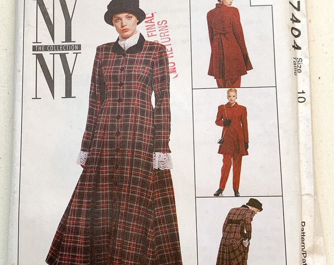 Vintage 1994 McCall's sewing pattern 7404 lined dress, lined jacket, skirt, pants & scarf | 90s suit pattern | Sizes 10