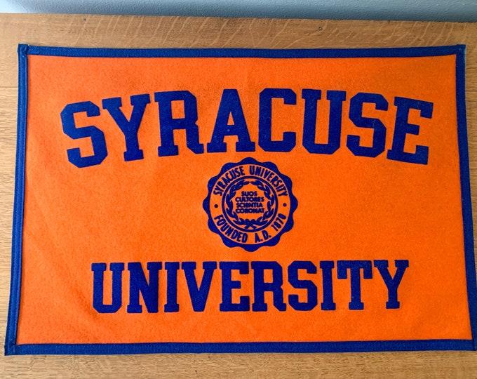 Vintage Syracuse University felt pennant or banner, Syracuse Orange, Orangmen