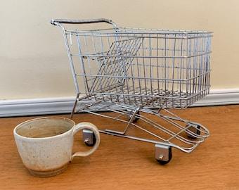 Vintage miniature shopping cart, toy shopping cart, unique fruit bowl