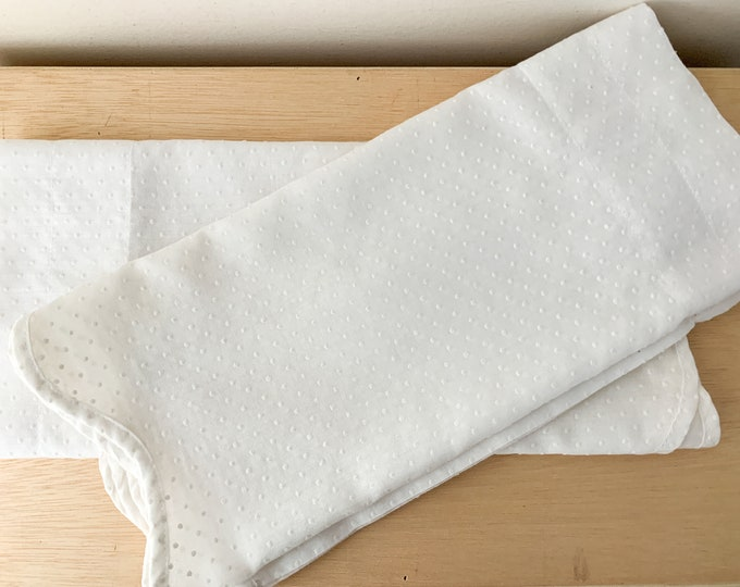 Vintage 2 piece white swiss dot valance curtains, farmhouse decor, Martha Stewart