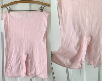 Vintage pink t-shirt material bloomers, knickers, panties, made by Primstyle, NOS, size XL
