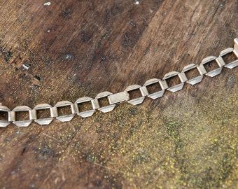 Vintage bracelet-style gold tone women's watchband