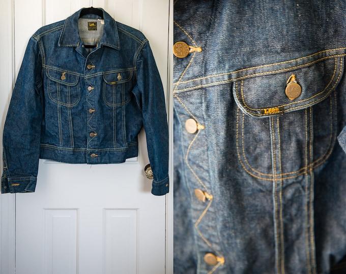 Vintage Lee Riders denim jacket PATD 153438, jean jacket, selvedge denim, Size S/M