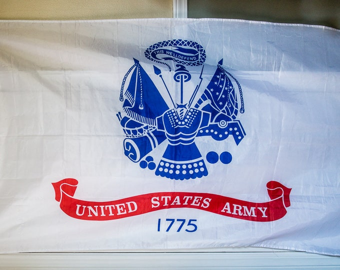 "1999 United States Army flag ""This we'll defend"" 