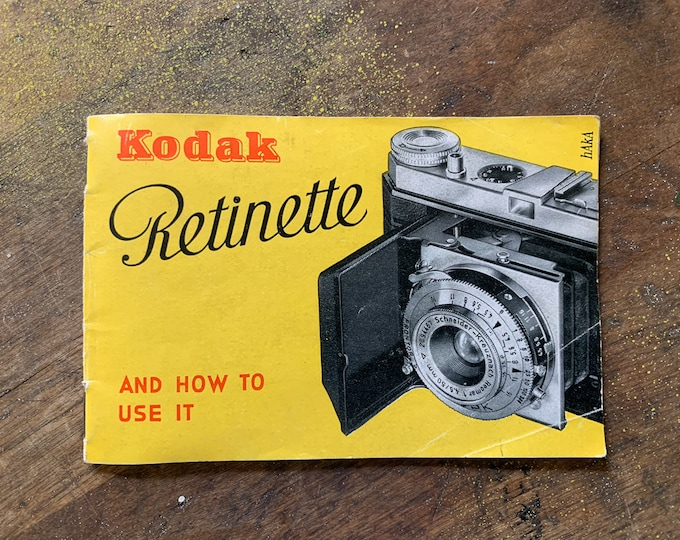 Authentic vintage 1940s Eastman Kodak Co. Retinette instruction manual