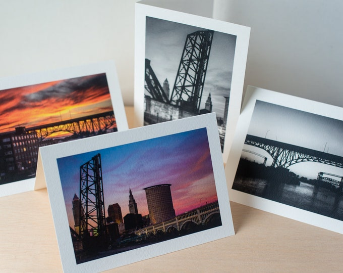 Cleveland OH photography greeting cards, City of Bridges not cards, Photography by Elisa Vietri