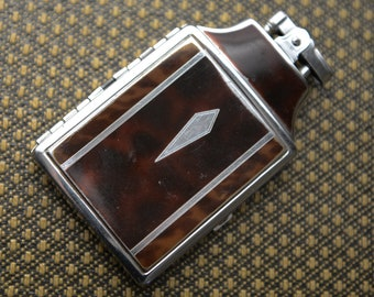 Vintage 1950s Ronson Mastercase combination cigarette case and lighter | brown and silver