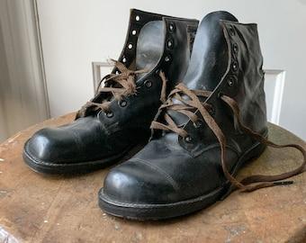 Vintage Pete's Shoe Co. Diamond Brand leather lace-up boots or shoes Sz 4.5/5