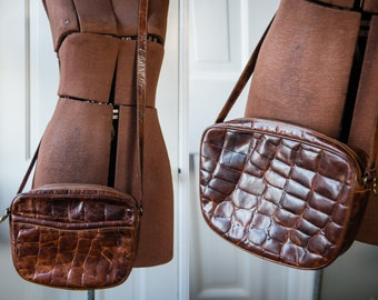 """Medium size textured brown leather cross body bag by Furla 