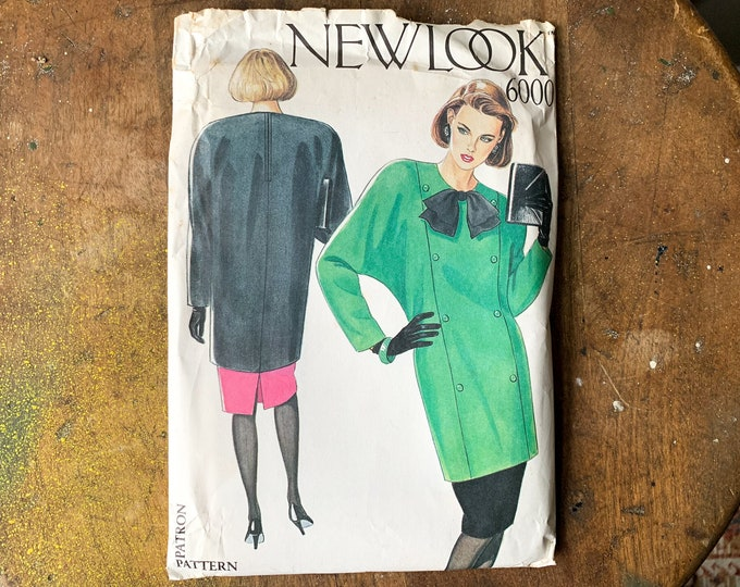 Vintage New Look sewing pattern for misses tunic with contrasting bow and skirt 6000   multi size pattern   Size 8 - 18