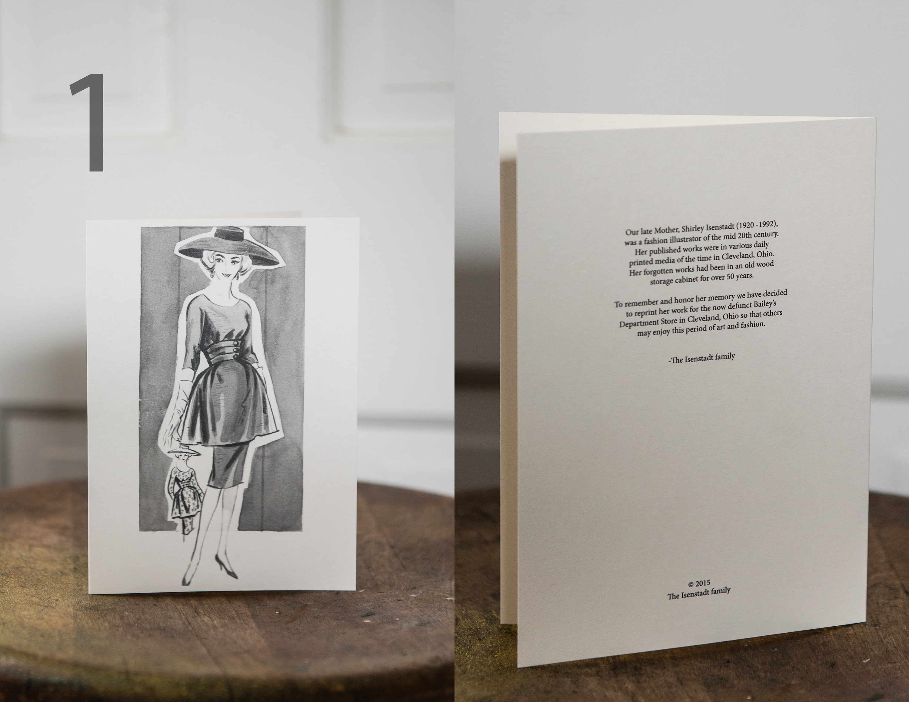 Greeting Cards Created From 1950s Original Artwork By Fashion Illustrator Shirley Isenstadt For Bailey S Department Store In Cleveland Ohio