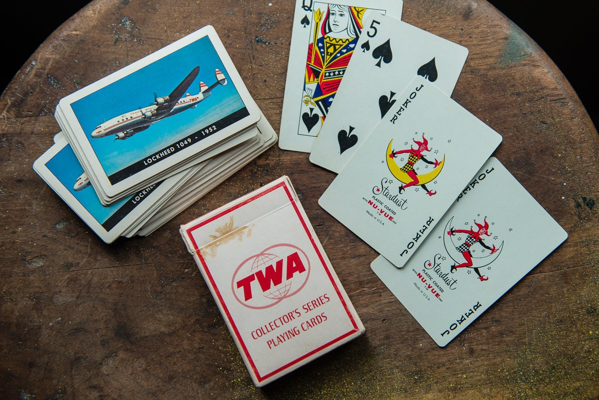 c4cb08709 Vintage TWA Collector's Series playing card deck in original box with ...