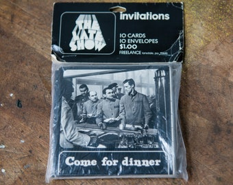 "Vintage NOS ""Come for Dinner"" dinner invitations 10pc"