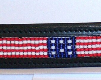 Horse Bridle Brow Band- US FLAG -Full size