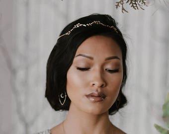 NEW! Ziegfeld headpiece - celestial star crown -  starburst gold plated 18k wreath - 1920 bridal tiara - Cosmic Beauty headband