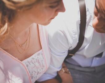 Aurevily necklace - gold plated 18k swarovski - art deco 20s downton abbey Victorian  - bridal bridesmaid necklace - reign tudor renaissance