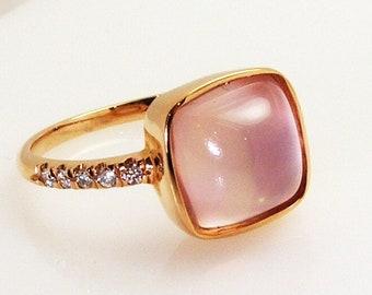 Rose Quartz Ring.