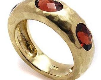 Garnet ring .