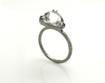 White topaz ring .
