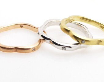 Stack rings 3 colors .